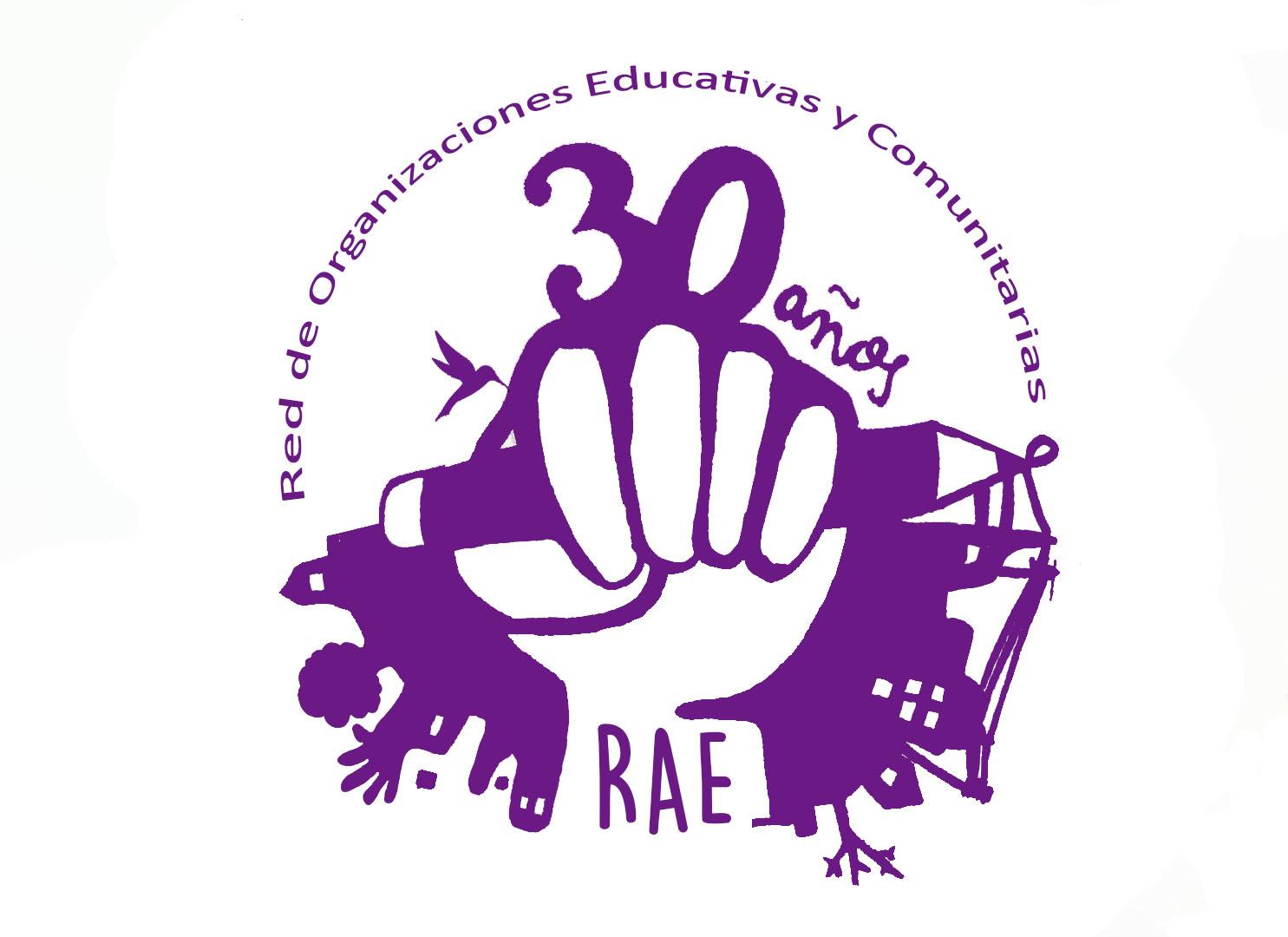 logo de RAE (Red de Organizaciones Comunitarias y Educativas